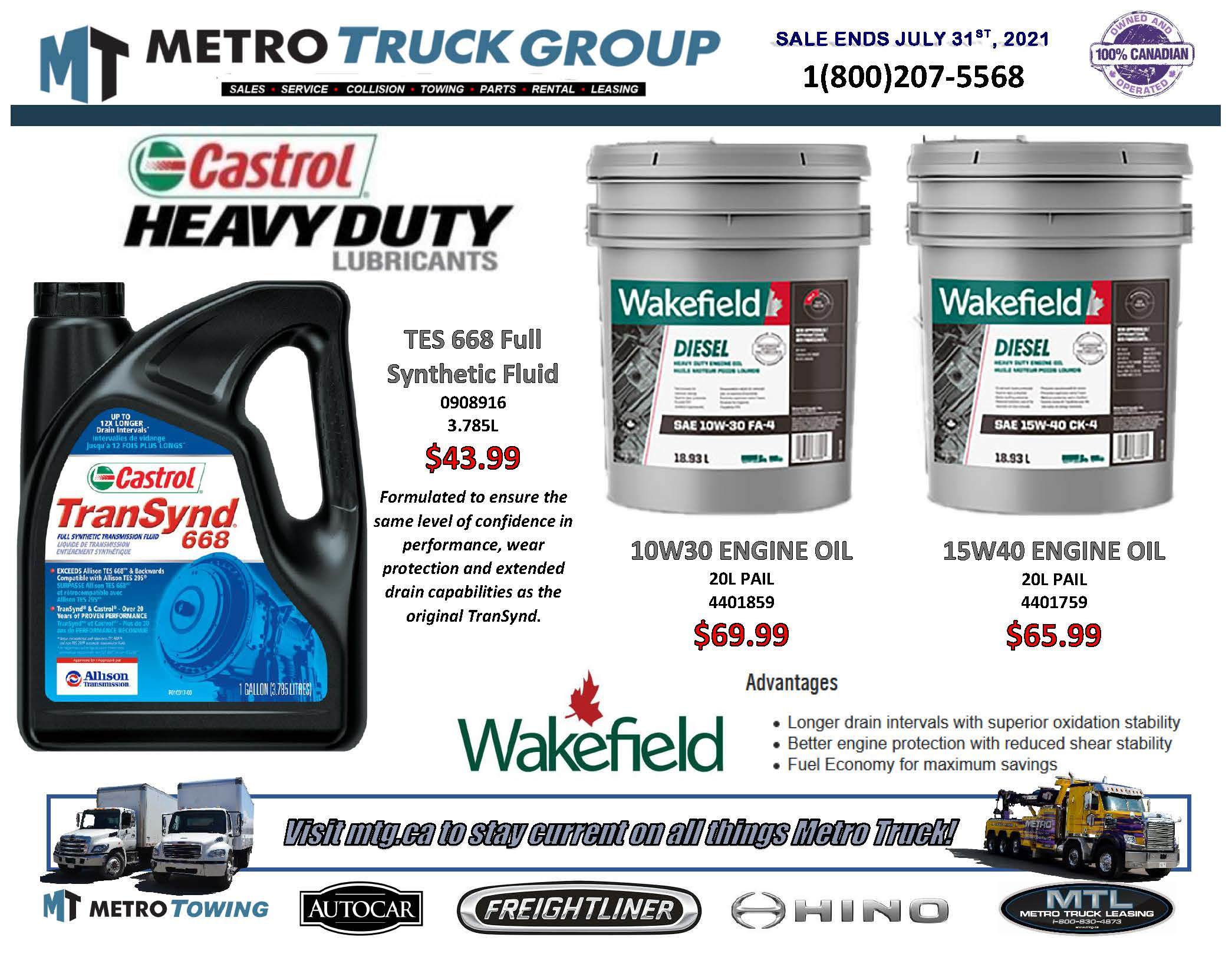 July-Castrol-Wakefield-Parts Special